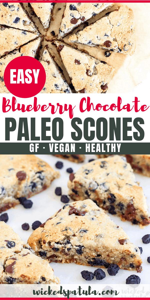 paleo blueberry scones - pinterest