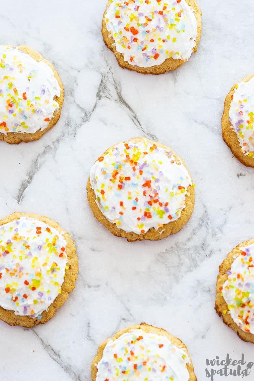 coconut oil sugar cookies with sprinkles