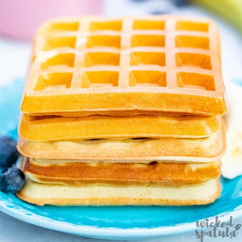 stack of almond flour waffles