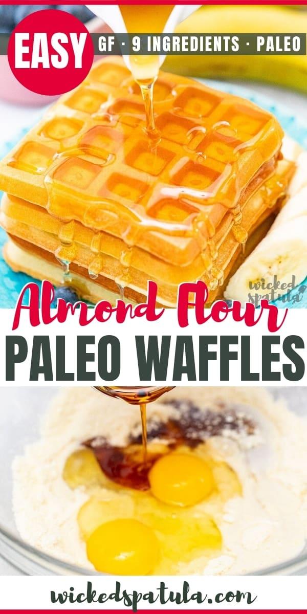 almond flour paleo waffles recipe - pinterest