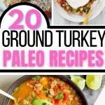 Paleo ground turkey collage image