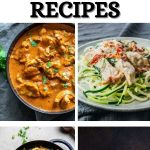 Low carb instant pot recipe collage