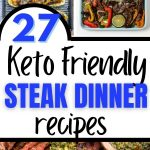 Keto steak dinner collage
