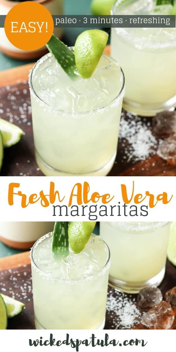 Aloe Vera Margaritas - Pinterest image