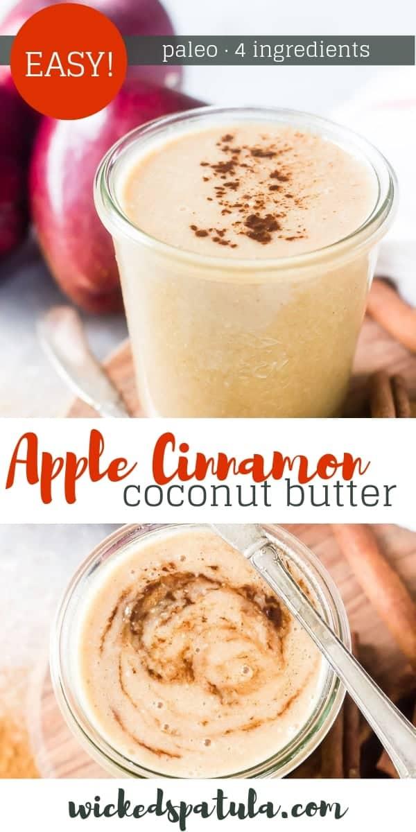 Apple Cinnamon Coconut Butter - Pinterest image