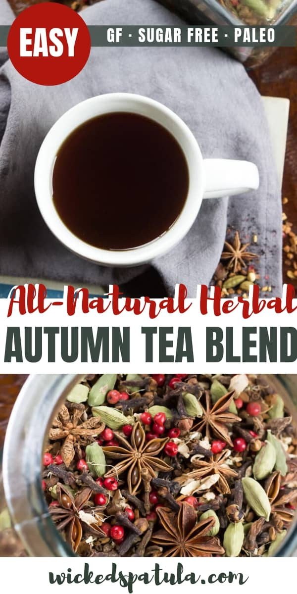 DIY Autumn Herbal Tea Blend - Pinterest image