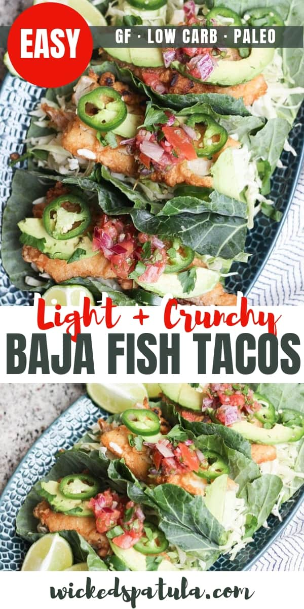 Baja Fish Tacos - Pinterest image