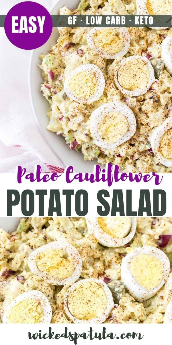 Cauliflower Potato Salad - Pinterest image