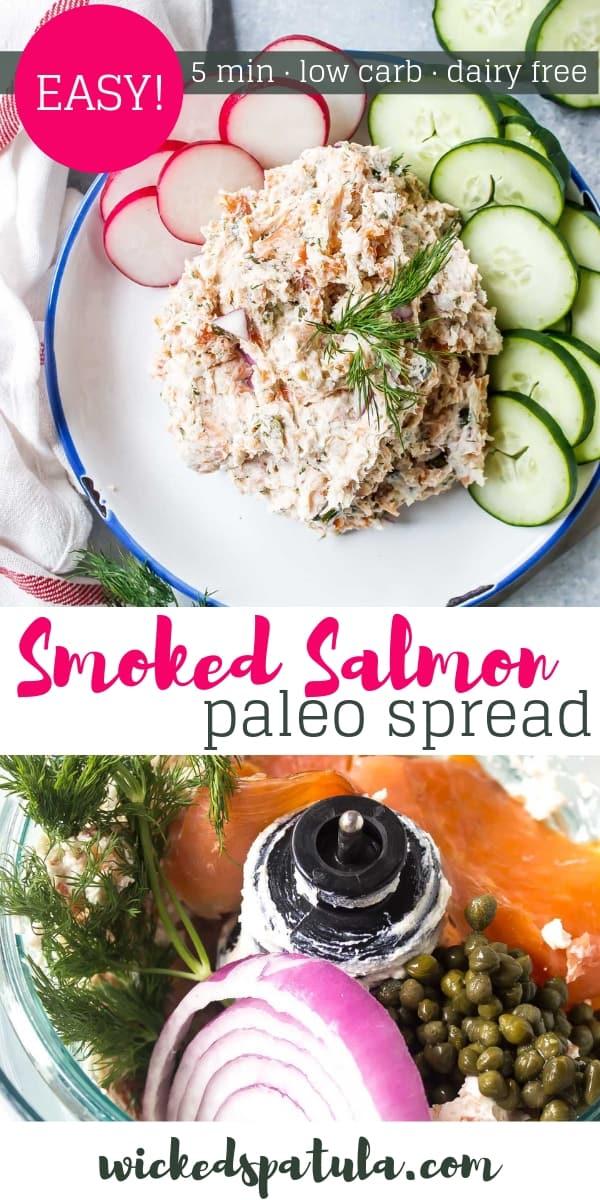 Dairy Free Smoked Salmon Spread - Pinterest image
