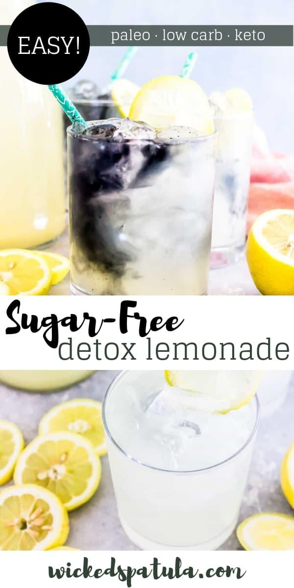 Detox Lemonade - Pinterest image