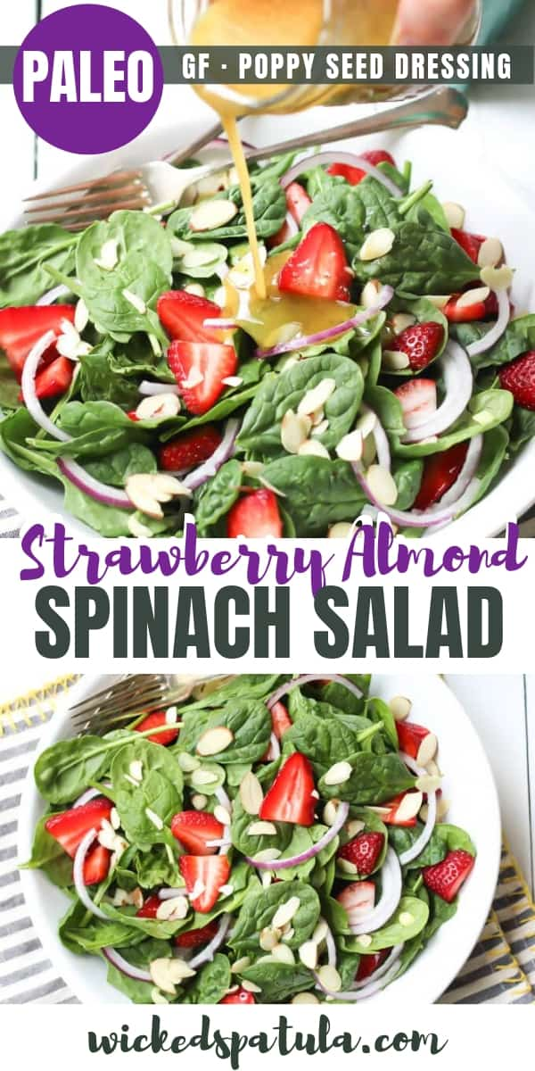 spinach strawberry almond salad - pinterest