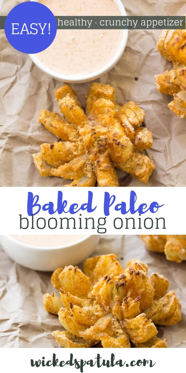 Baked Paleo Blooming Onion - Pinterest image