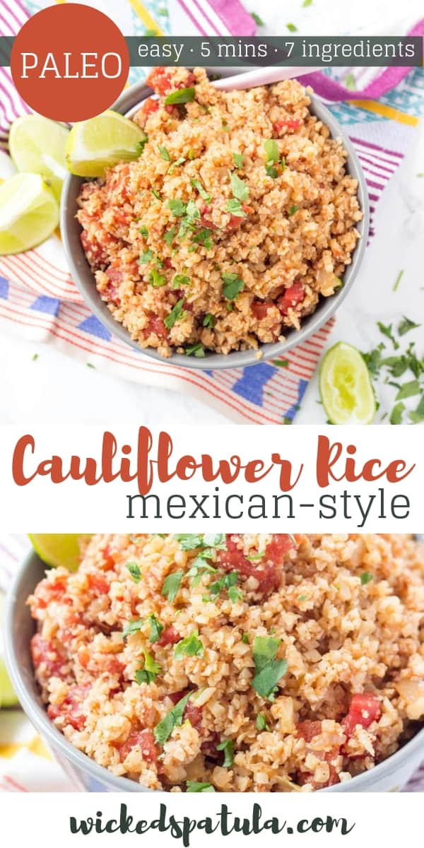 Mexican Cauliflower Rice - Pinterest image