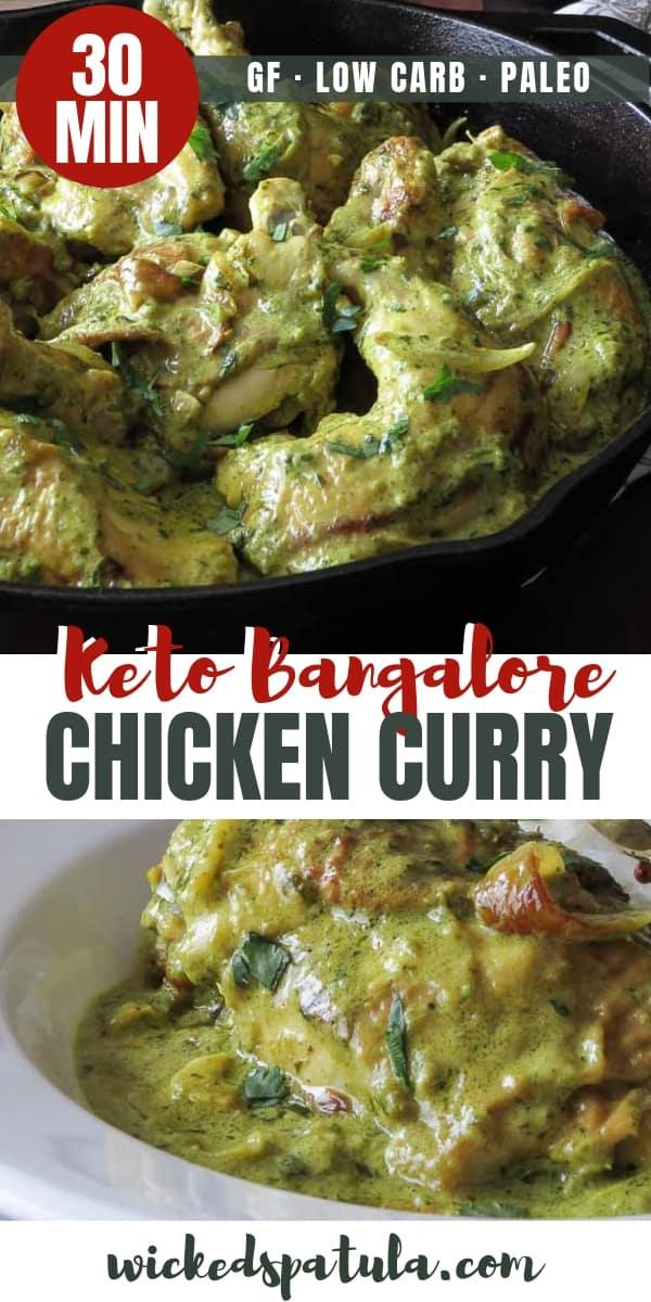 Paleo Bangalore Chicken Curry - Pinterest image