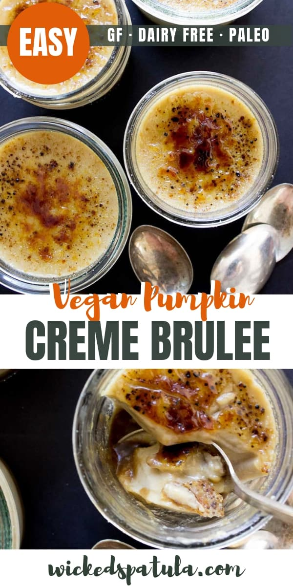 Easy Paleo Vegan Pumpkin Creme Brulee Recipe - Pinterest image