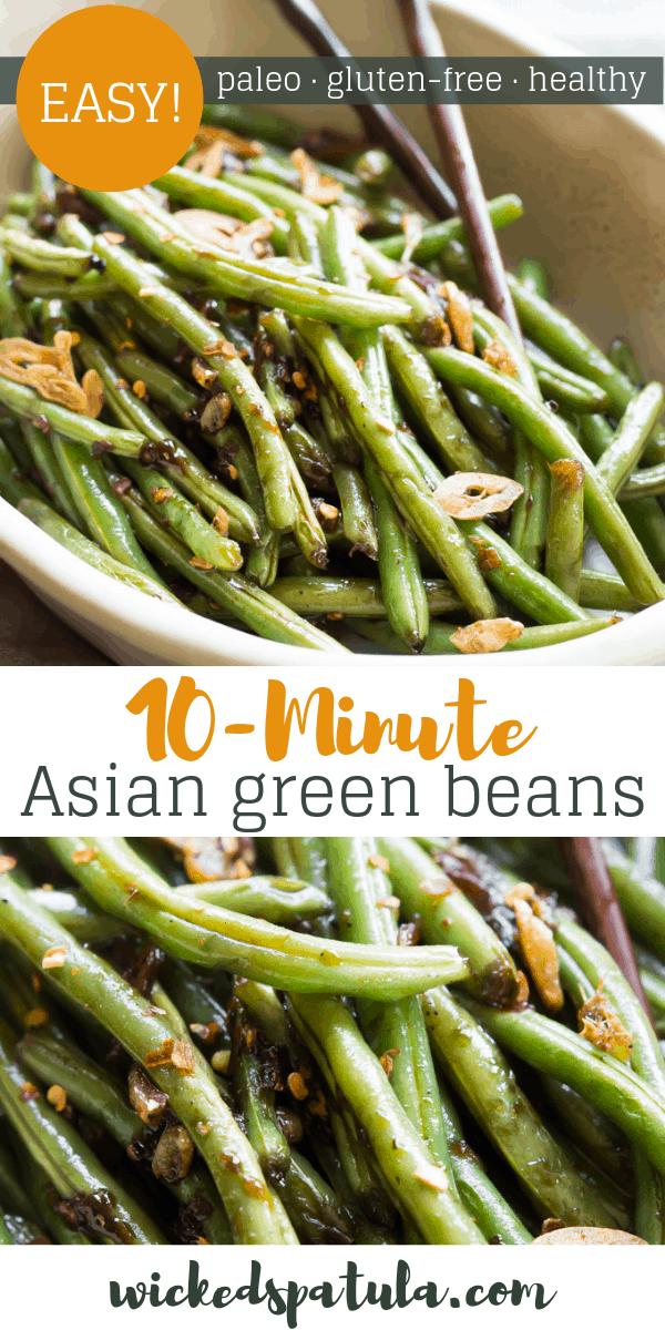 Asian Green Beans - Pinterest image