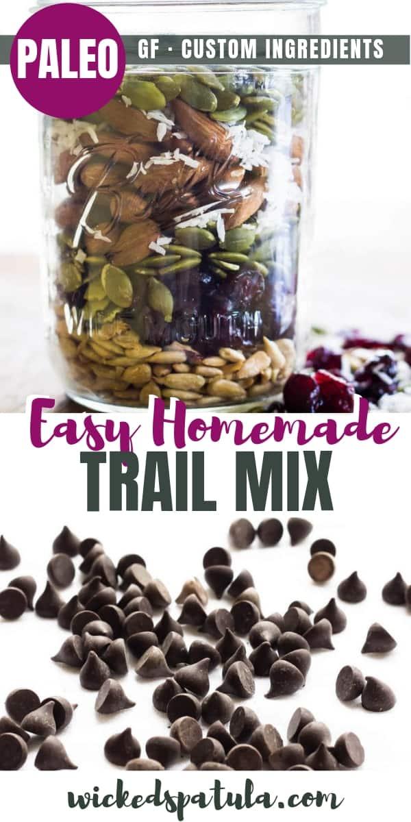 Low Carb Trail Mix - Pinterest image
