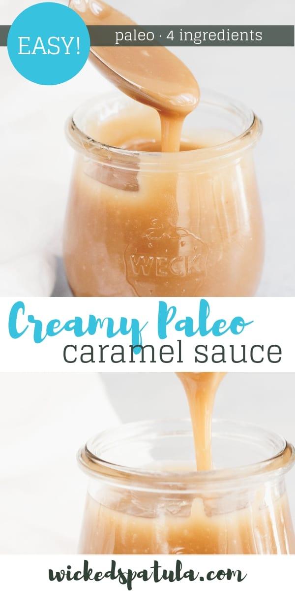 Paleo Caramel Sauce - Pinterest image