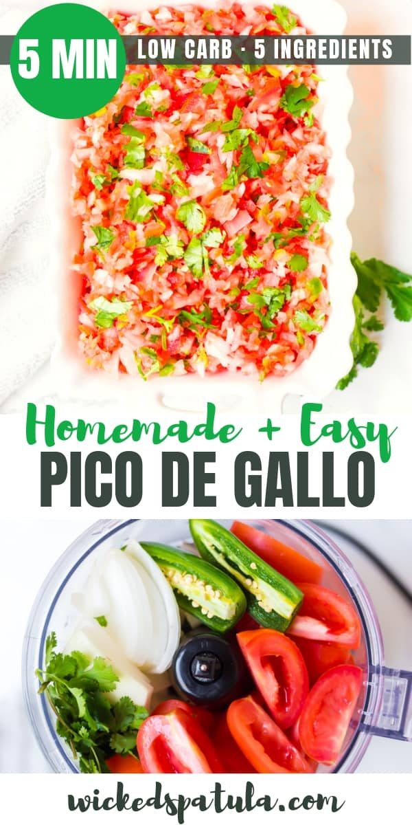 Homemade Easy Pico de Gallo Recipe - Pinterest image