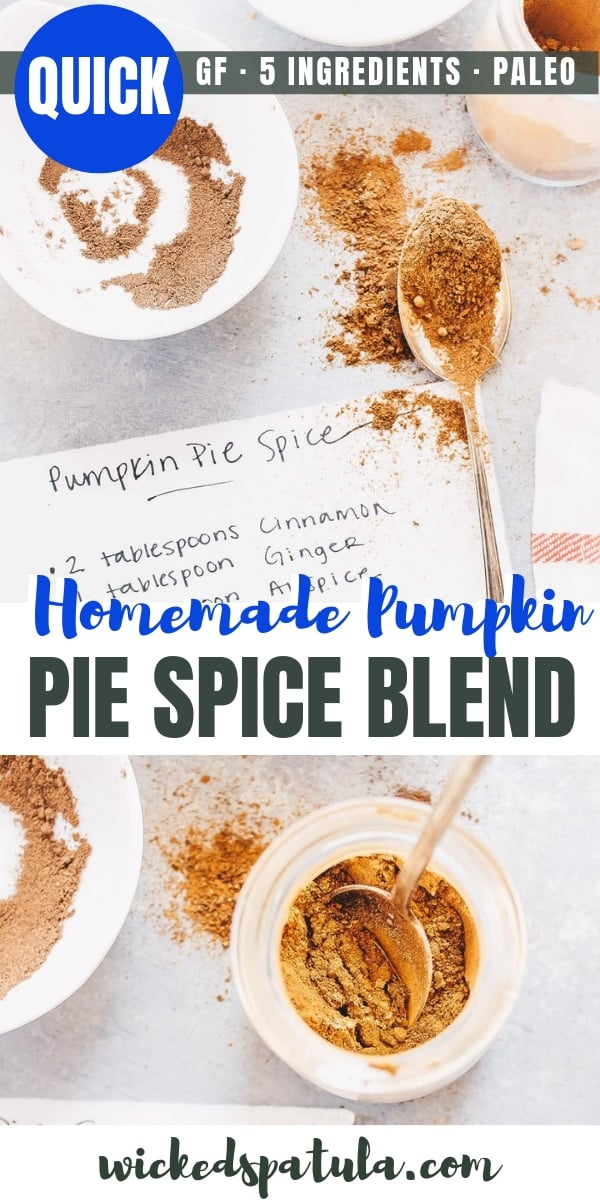 DIY Pumpkin Pie Spice Blend - Pinterest image