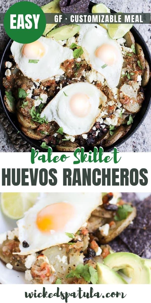 Skillet Huevos Rancheros - Pinterest image