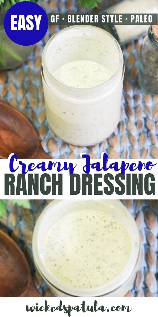 Jalapeño Ranch Dressing - Pinterest image