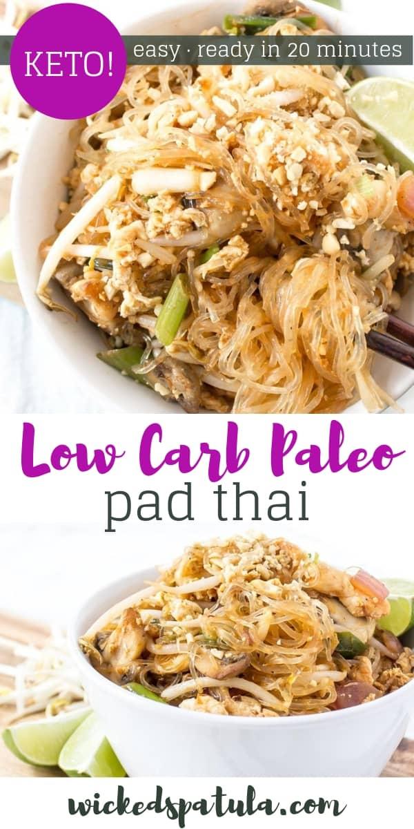 Low Carb Paleo Pad Thai - Pinterest image