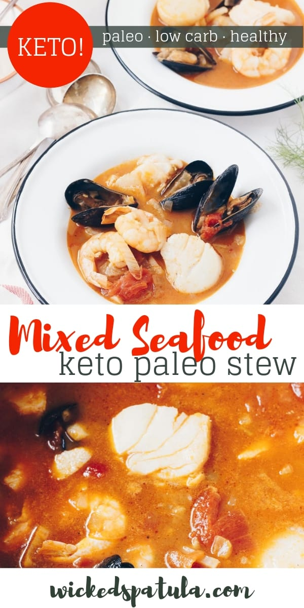Mixed Seafood Stew - Pinterest image