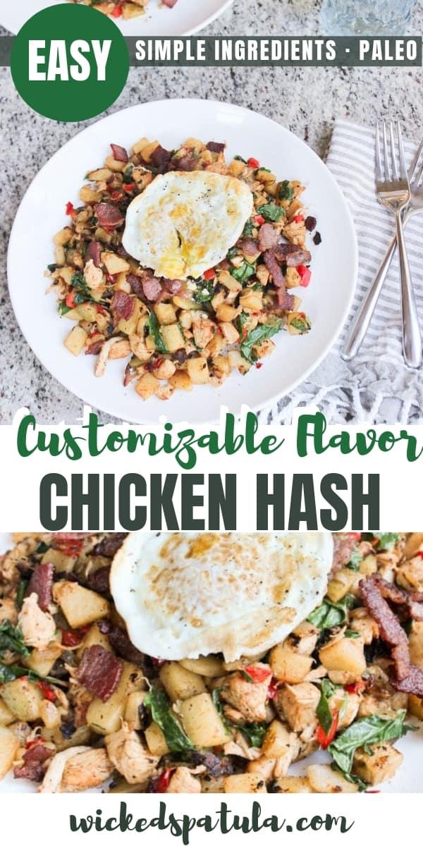 Paleo Chicken Hash - Pinterest image