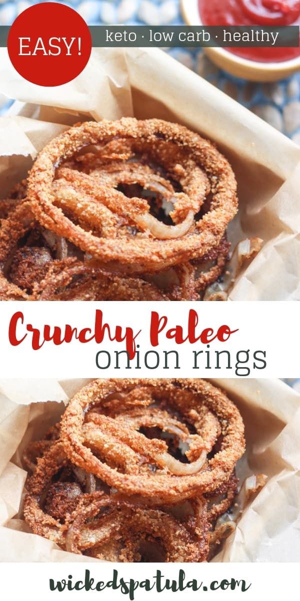 Paleo Onion Rings - Pinterest image