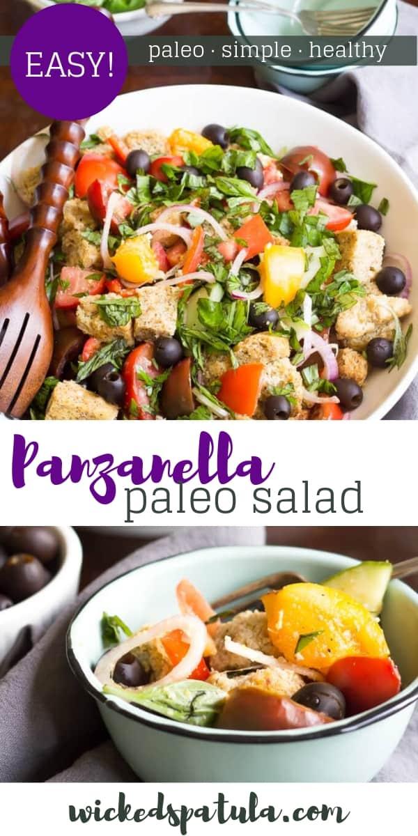 Paleo Panzanella Salad - Pinterest image