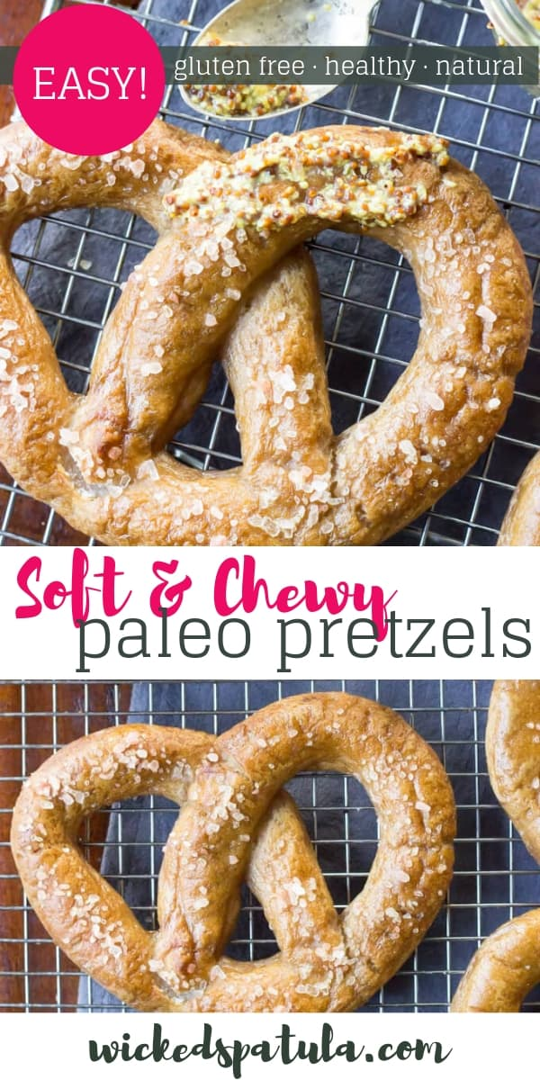 Paleo Pretzels - Pinterest image