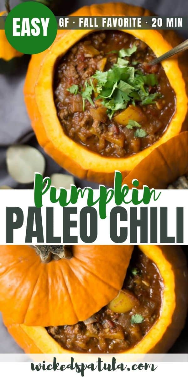 Paleo Pumpkin Chili - Pinterest image