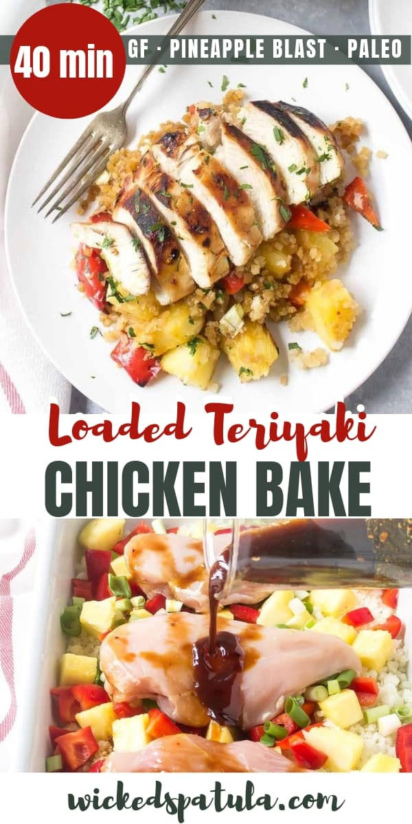 Paleo Teriyaki Chicken Bake - Pinterest image