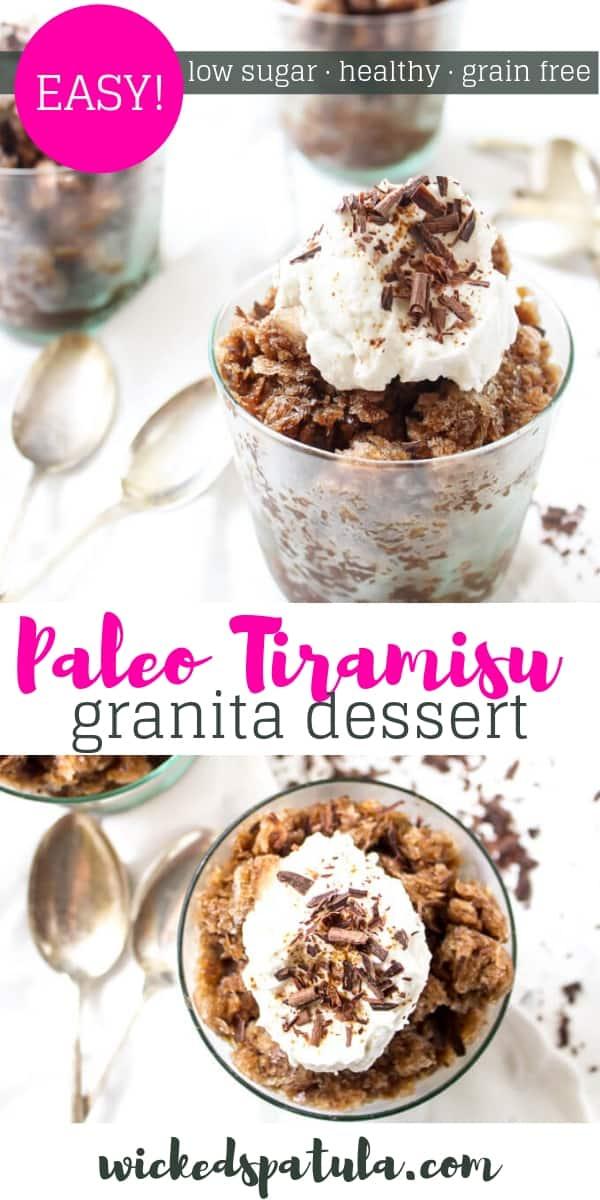 Paleo Tiramisu Granita - Pinterest image