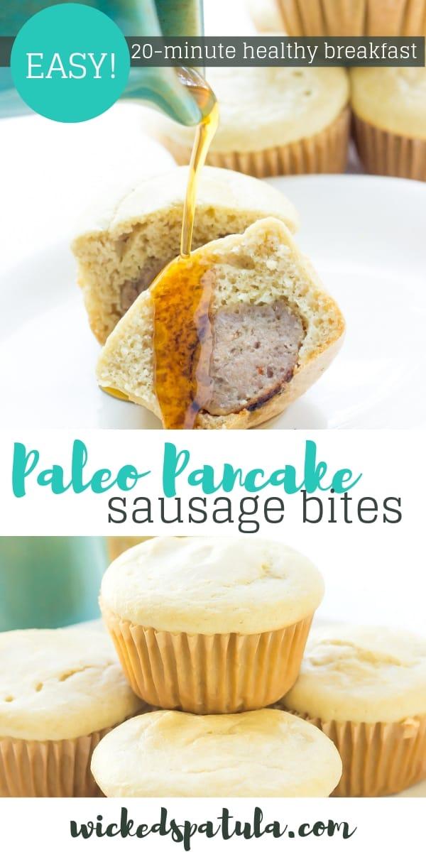 Pancake Sausage Bites - Pinterest image