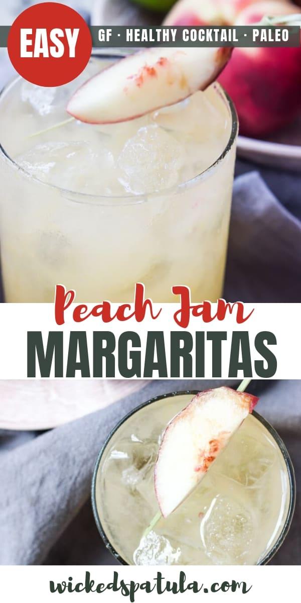 Peach Jam Margaritas - Pinterest image