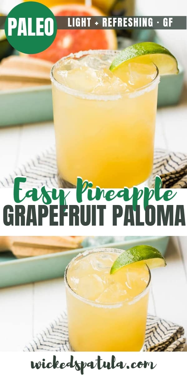 Pineapple Grapefruit Paloma - Pinterest image