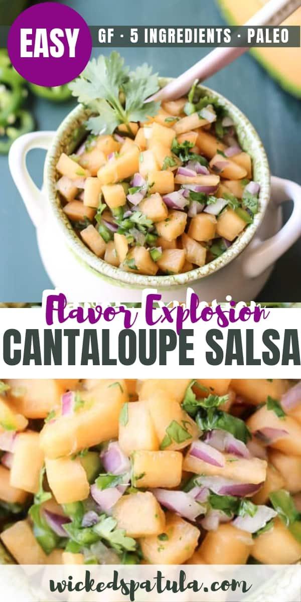 cantaloupe salsa - pinterest