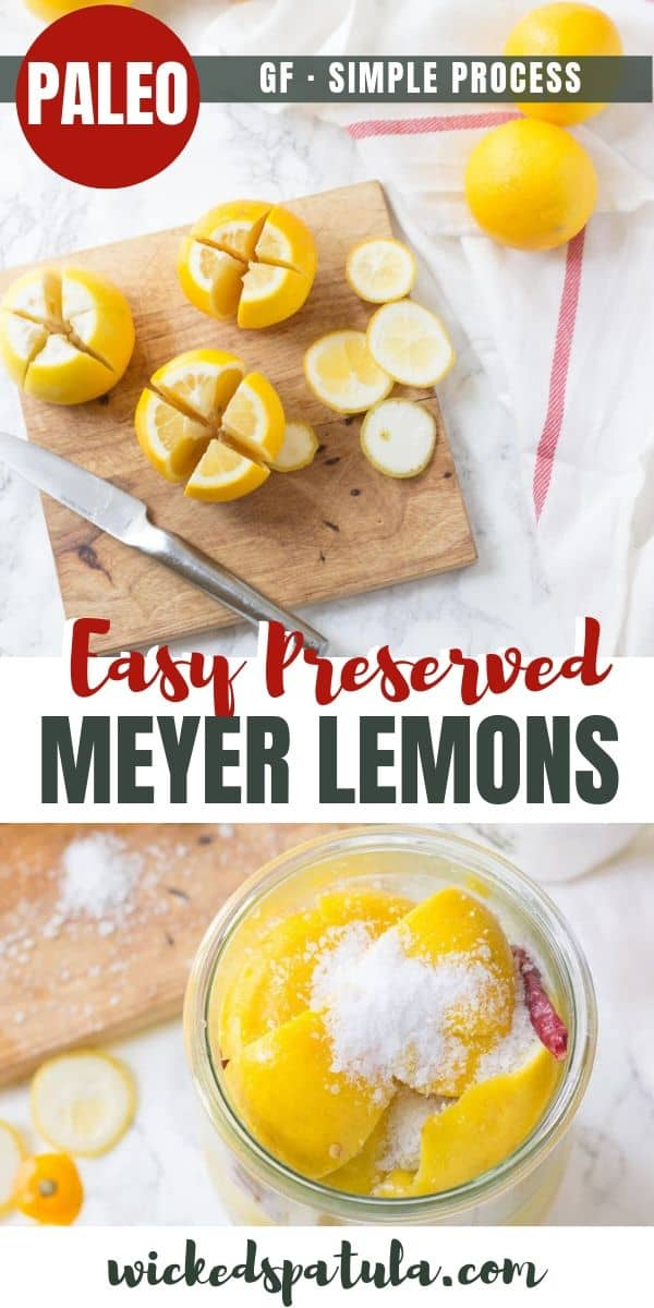 Preserved Meyer Lemons - Pinterest image