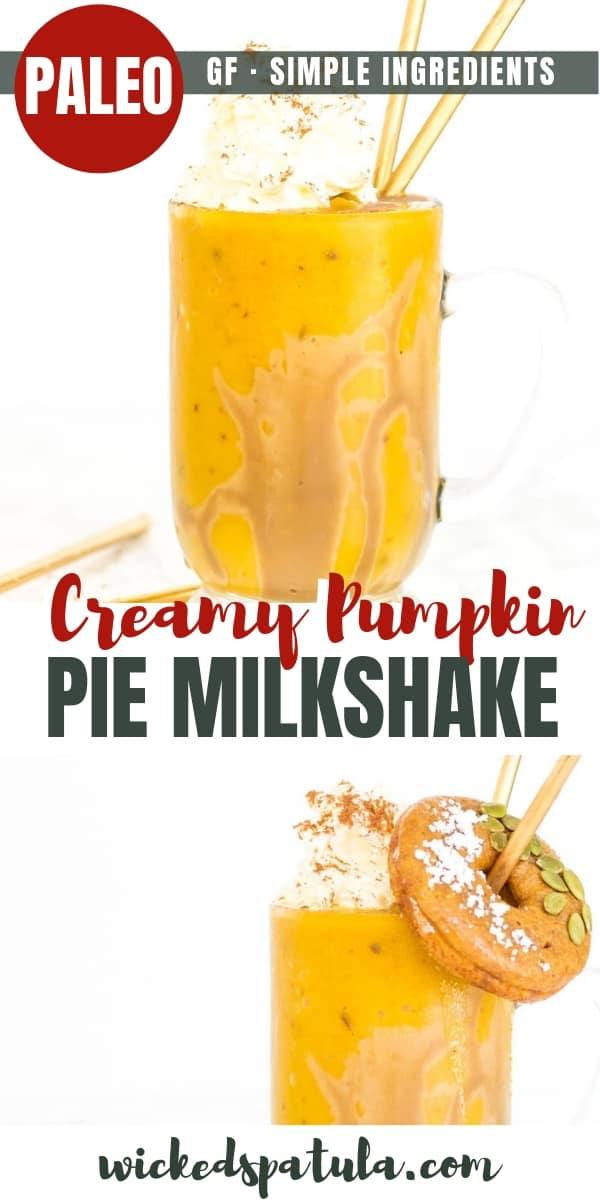 Pumpkin Pie Milkshake - Pinterest image