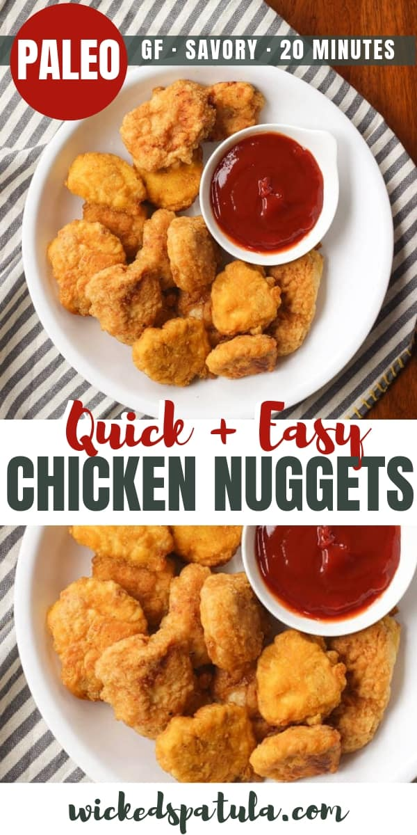 Quick and Easy Paleo Chicken Nuggets - Pinterest image