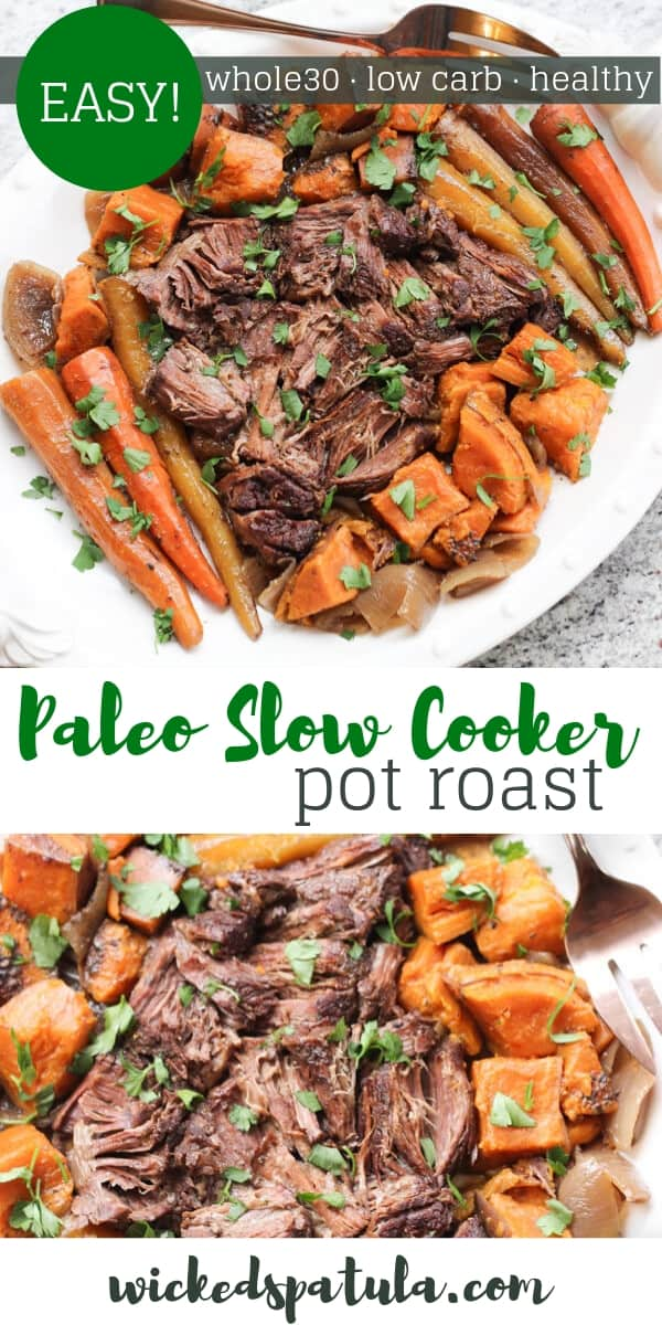 Slow Cooker Pot Roast - Pinterest image