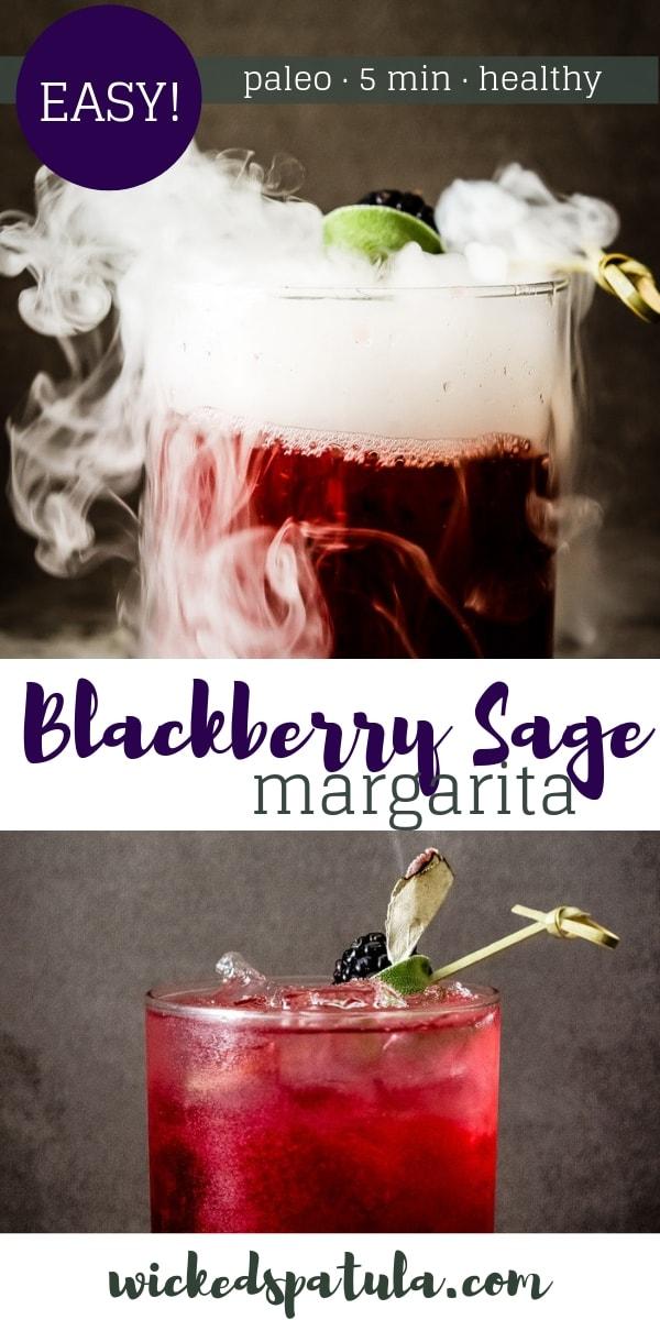 Smoking Blackberry Sage Margarita - Pinterest image