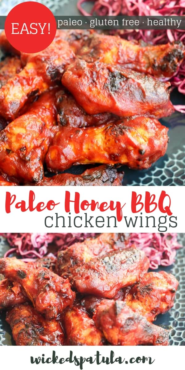 Hot Honey BBQ Wings - Pinterest image