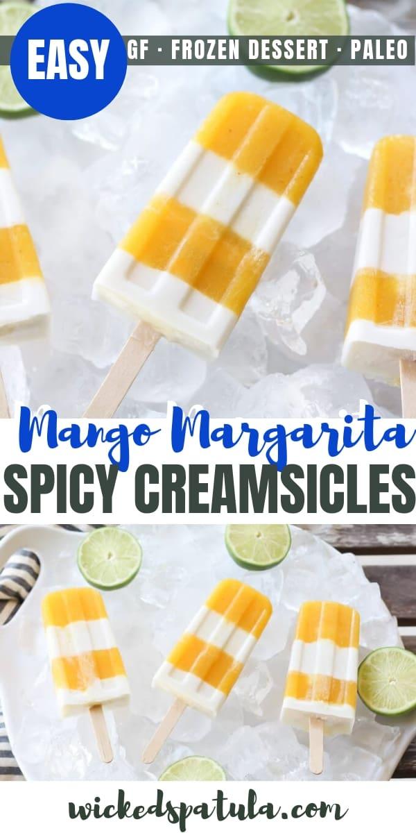 Spicy Mango Margarita Creamsicles - Pinterest image