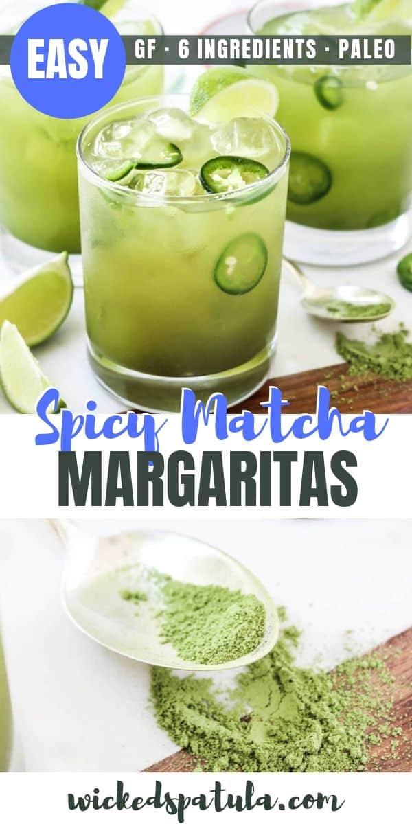 Spicy Matcha Margaritas -Pinterest image
