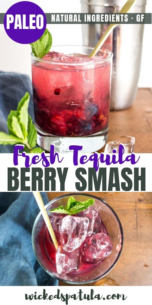 Tequila Berry Smash - Pinterest image