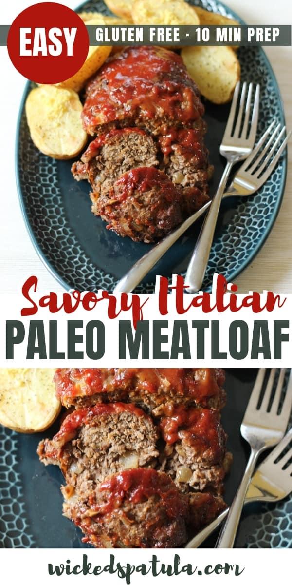 Italian Paleo Meatloaf - Pinterest image
