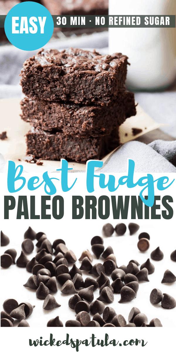 Fudge paleo brownies - Pinterest Image